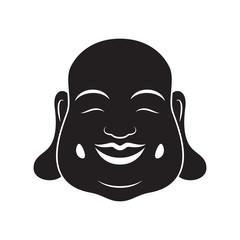 Laughing Buddha On White Background