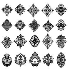 Decorative elements pattern design