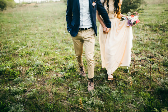 Wedding couple in the forest