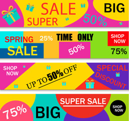 Summer sale template banner price label offer summer sale discount promotion vector.