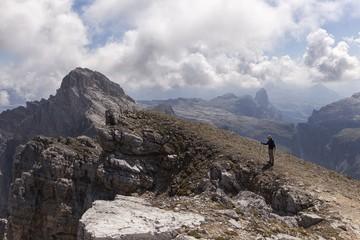 Piz Duleda, Puez group, Dolomites, South Tyrol, Bolzano, Italy.