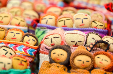 Peruvian cloth dolls