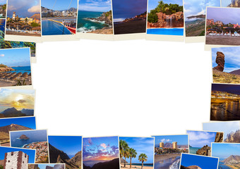 Frame made of Tenerife Canary images (my photos)