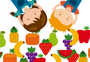 Children and Produce Logo