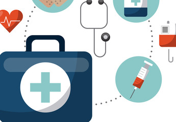 First Aid Kit Infographic Icon