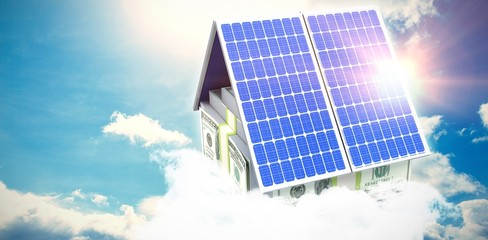 Digital composite of 3d solar panel