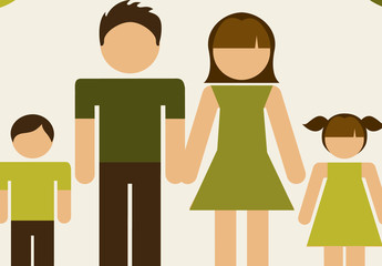 Recycling and Family Infographic