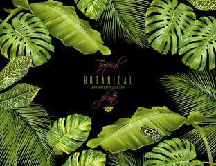 Tropical horizontal banner