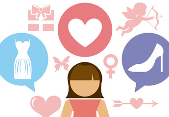 Love and Relationship Pictogram Infographic