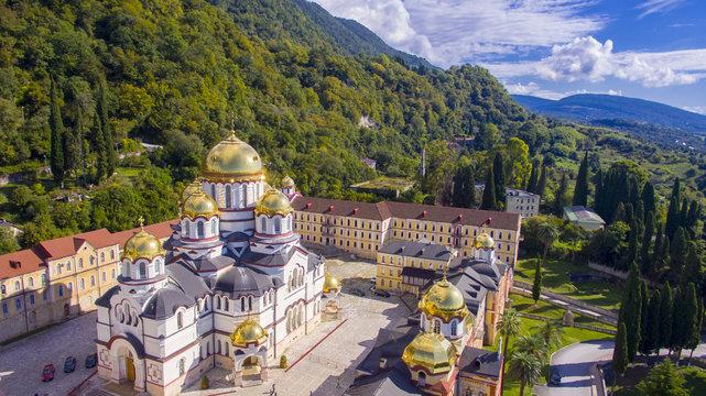 Beautiful aerial view on New Athos monastery