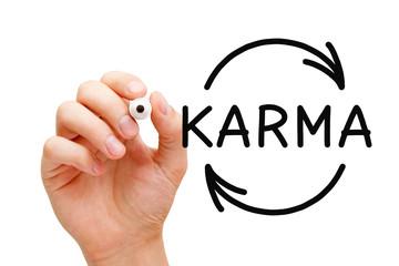 Karma Cycle Arrows Concept