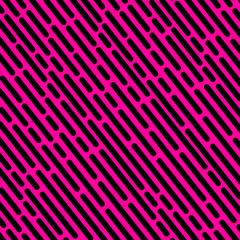 Striped geometric pattern purple background vector vintage design with black dashed lines