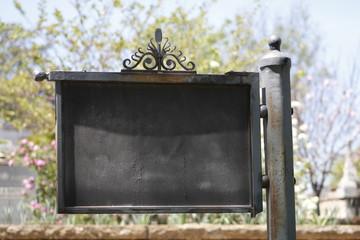 Metal sign vintage board