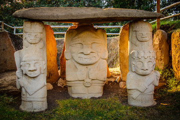 The Ancient statues in San Augustin, Colombia
