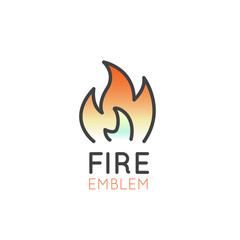 Vector Icon Style Illustration Concept of Camping Outdoor Fire App for Mobile and Web, Isolated Object
