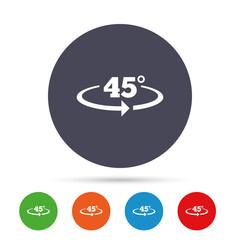 Angle 45 degrees sign icon. Geometry math symbol.