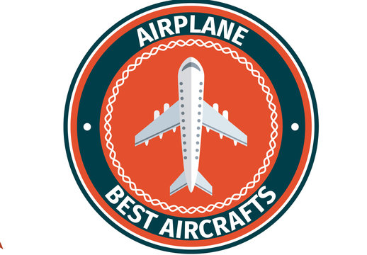 Four Red and Blue Airplane Designs