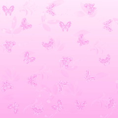 butterfly and plant Texture pink background