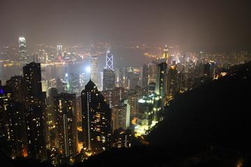 Hong-Kong night views from Peak