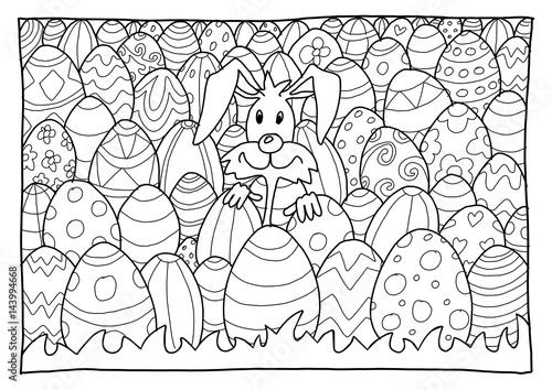 Ausmalbild Ostern\