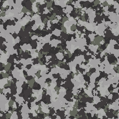 Camouflage pattern. Fashion design for masking, military style.