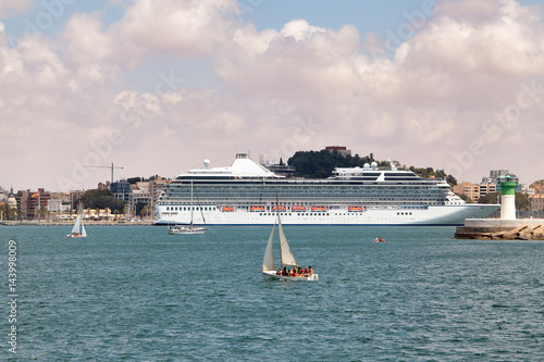 U0026quot;Large Cruise Ship At The Seaport Of Cartagena Spain ...