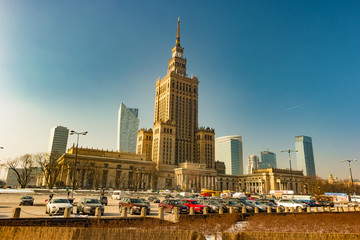 Warsaw Palace of Culture and Science is the city's most visible landmark and tallest building in...