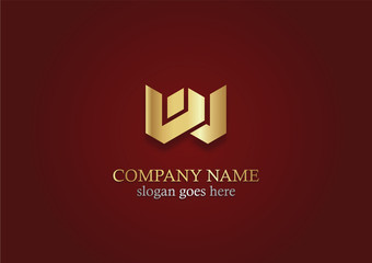 gold letter w business logo