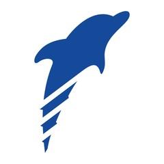 dolphin logo vector.