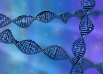 DNA molecule double helix 3D rendering