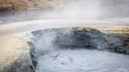 Hverir Geothermal Area, Iceland, Europe.
