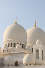 Deails of Sheikh Zayed mosque in Abu-Dhabi, United Arab Emirates