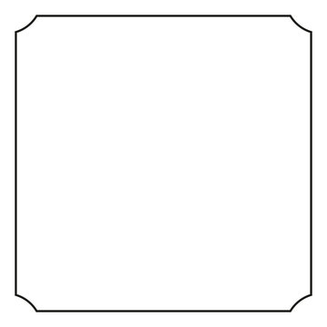 Vintage border of frame, vector illustration.