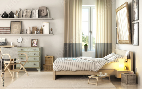 schlafzimmereinrichtung stockfotos und lizenzfreie bilder auf bild 144017646. Black Bedroom Furniture Sets. Home Design Ideas