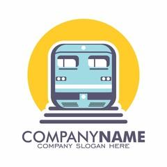 Train Subway Monorail Railroad logo vector