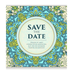 Vintage template design layout for Wedding invitation. Wedding invitation, thank you card, save the date cards, baby shower.