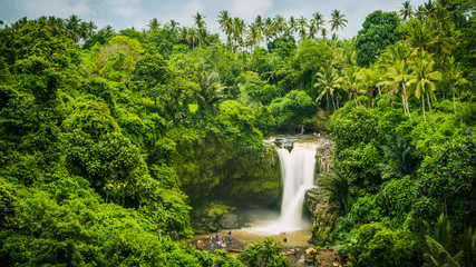 Tuinposter Watervallen Amazing Tegenungan Waterfall near Ubud in Bali, Indonesia