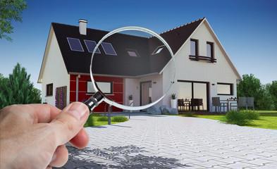Concept audit et achat immobilier de maison