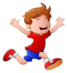 Cartoon little boy running