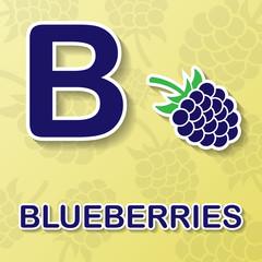 Alphabet fruit and vegetables