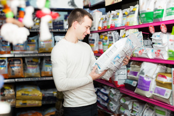 Man watching diet products