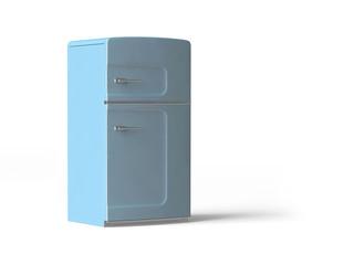 hellblauer Kühlschrank im Retro-Look