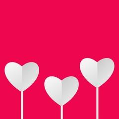 Creative paper heart