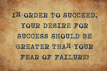 essay on fear of failure We tend to think of failure as negative, and as a reflection of the skills, value, and potential of a person that outlook unfortunately keeps people from progressing in life and fulfilling their dreams what if you could change your view of failure, so that you embrace it rather than fear it these .