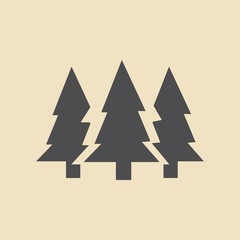 fir-tree . line vector icon