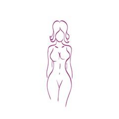 female body icon vector