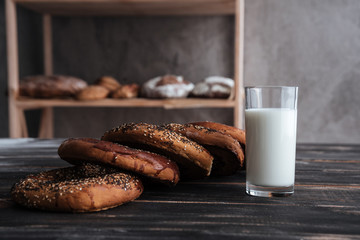 Pastries and glass of milk