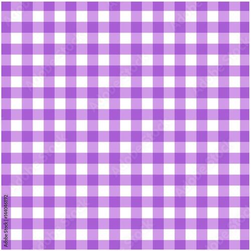 Tartan Plaid Seamless Pattern. Kitchen Checkered Purple Tablecloth Napkin  Fabric Background.