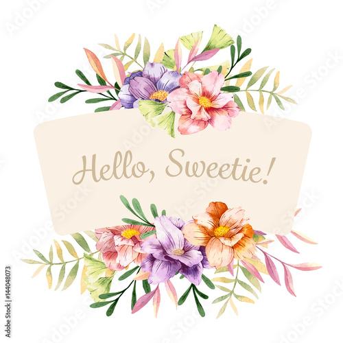 Watercolor Spring Flowers Stockfotos Und Lizenzfreie Vektoren Auf