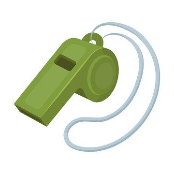 Whistle football fan.Fans single icon in cartoon style vector symbol stock illustration.